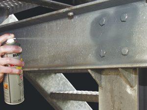 Ausbessern mit Rust-Oleum 2185 Zinkspray
