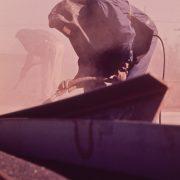 Sandstrahler bei der Arbeit