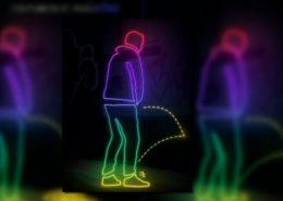 Urinierschutzbeschichtung Neon-Icons