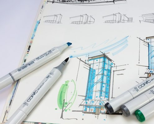 Beschichtungsberater Zeichnung Copic Architektur