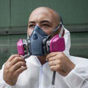 Atemschutz zur Verarbeitung von Pulverlack und Flüssiglack