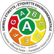 Schweizer Umwelt-Etikette für Dekorationslacke und -farben