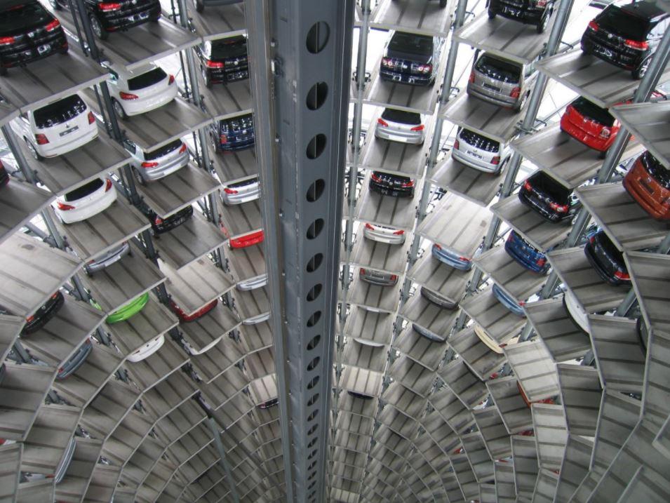 Pulverbeschichtung von Volkswagen Lift im VW Werk