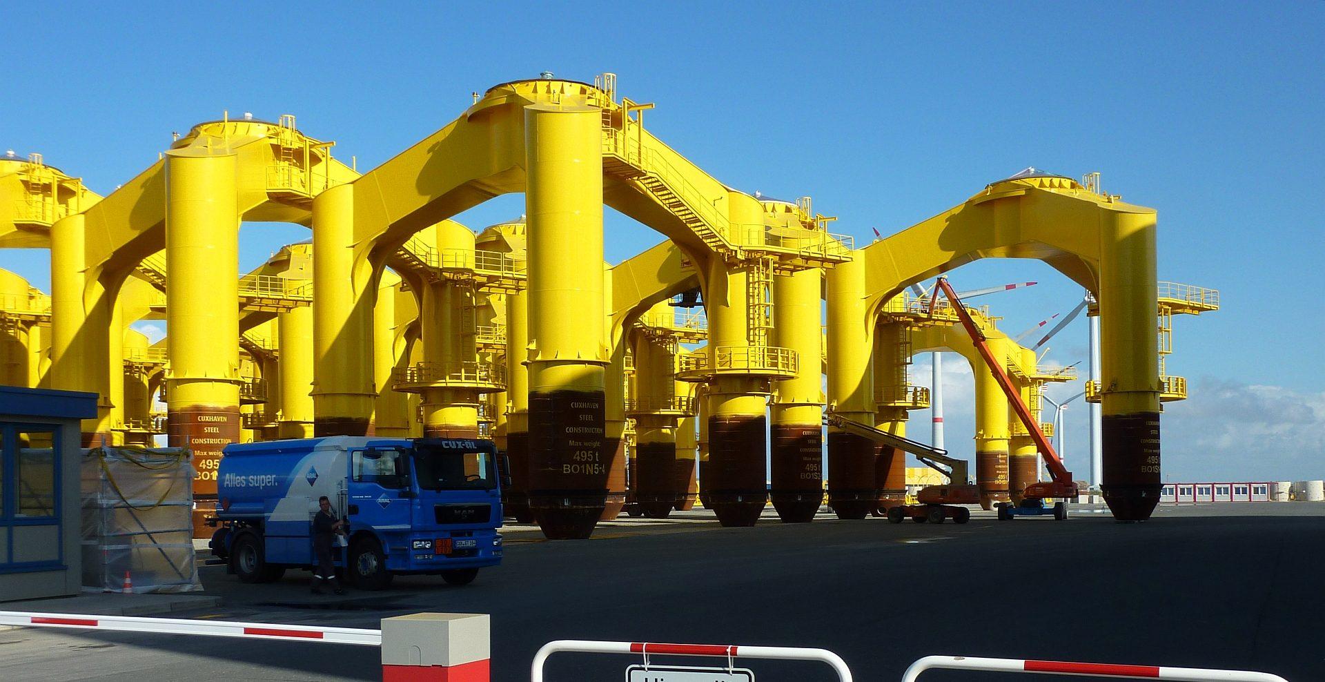 Bauteile pulverbeschichten Offshore